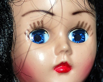 antique plastic doll's head  with moving eyes... collectible... Home Decor... K274