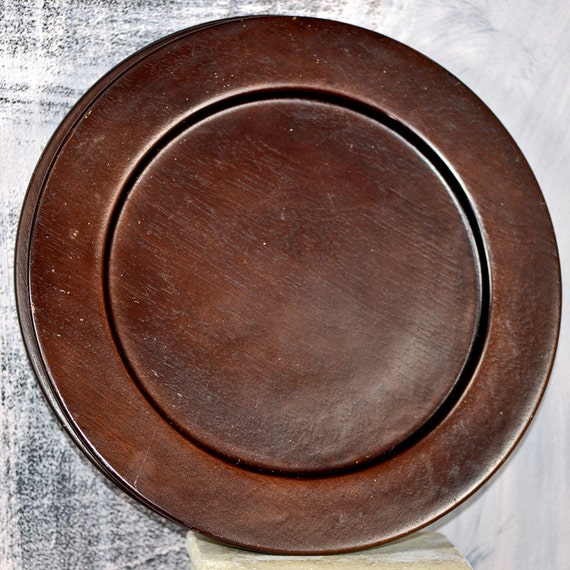Items Similar To Wooden Plate Holders... Brown Plates