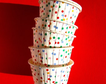 Candy Cups in Rainbow Polka Dots (25)