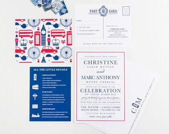Wedding Invitation, United Kingdom Union Jack Wedding Collection