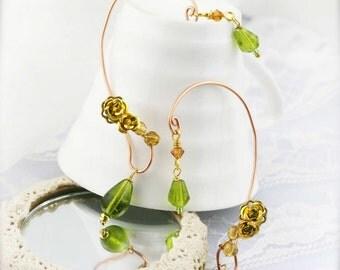 Gold on lime ear wraps (EW)