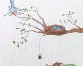 Original Watercolor Spring's Song by Jena Flyn