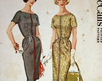Vintage 1960s Sewing Pattern, McCall's 5964, Dress, Petite Size 14