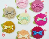 Interchangeable SNAP accessory --Felt Flower with bow