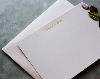 Wedding Thank you cards / Stationery / Customized / Gold or Silver lettering