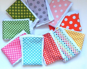 Dots Baby Burp Cloth- single - Your Choice diaper burp cloth  Girl or Boy