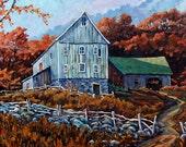 Still Standing Farm Scene Large Original by Prankearts