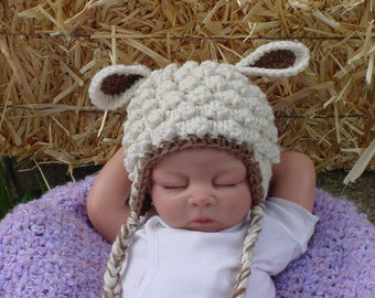 Baby Lamb Hat - Boy or Girl - Photo Prop