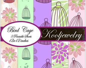 Bird Cage Paper Pack No.154