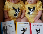 Boston terrier BABY KIDS ONESIES from The Adventures of Mirabelle