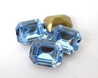 Swarovski Crystal Vintage Rhinestone Light Sapphire Octagon Jewel 10x8mm swa0502 (4)