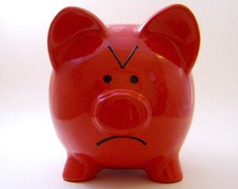 Polka Dot Piggy Bank Personalized Piggy Bank Ceramic Piggy