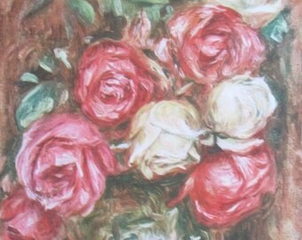 """Print from 1944 - """"Les Roses"""" by Renoir - Les Editions Du Chene"""