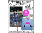 DIY PDF Pattern and Tutorial - Twirl Skirt Option for Sienna Dress 2.0