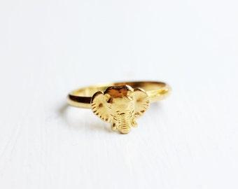 Elephant Head Ring, Elephant Ring, Gold Elephant Ring, Gold Animal Ring, Gold Ring, Adjustable Gold Ring, Gold Ring, Elephant Face Ring