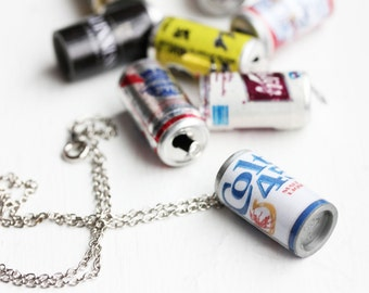 Beer Can Necklace, Beer Necklace, Food Necklace, Funny Necklace