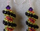 Whirly Twirley Earrings PDF Bead Weaving Tutorial (INSTANT DOWNLOAD)