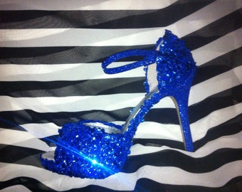 Something Blue! High heel shoes for the bride, bridesmaids, prom, pageants, and more.  Any color...style...height you want