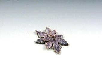 Enameled Small Maple Leaves / Napa Enamel  / Made to Order