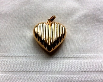 SALE Gold plated Sterling Silver Heart