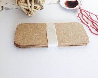 Blank Rustic Kraft Cards, Mini Business Cards, square or rounded corners, save the date keepsakes, gift tags or scrapbooking