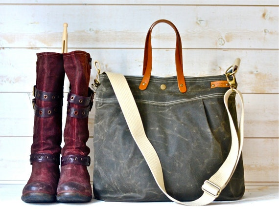 Waxed canvas bag diaper bag waxed canvas tote messenger