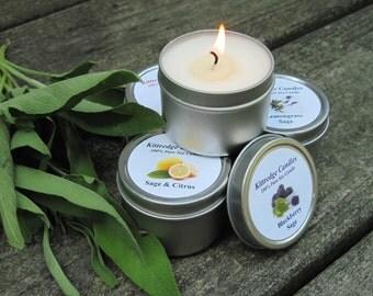 SAGE SAMPLER (four 2-oz soy candles)