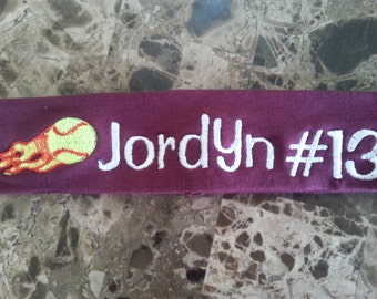 Custom Personalized Fastpitch Softball Headband