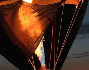 Balloon Glow, Hot Air Balloon, Glow, Fine Art Photography, Balloon,  Night Balloon Glow
