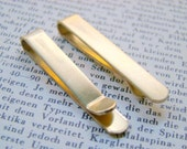 With A Stylish Gift Box - One Brushed Brass Skinny Tie Clip - Great for Groomsmen's Gifts No. TC813S-RAW