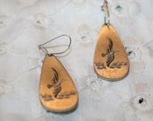 Pewter Tone Pierced Earrings 30314