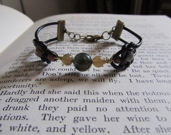 Item 2227 Fancy Jasper Double Coin Knot Bracelet