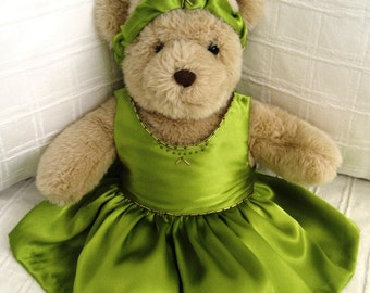 Teddy Bear Clothes, Sofia Dress & Headband