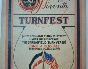 1935 Program, 27th Turnfest, Springfield, Massachusetts, Gymnastics