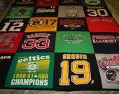 Boston Sports Teams T-Shirt Quilt / Blanket....Red Sox, Bruins, New England  Patriots, Boston Celtics..