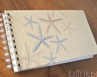 beach guest book with starfish cover