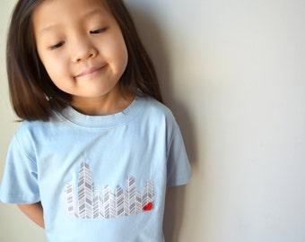 Chicago Skyline LONG sleeve kids unisex shirt onesie onezee children's tshirt chicago 0-3 months to 8 years