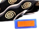 Australian Beach Glass Tie Bar Handmade - big bold statement beach glass tie clip  - 2.3 inch