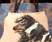 Mustang in the Wind Needle Felted Wool Purse