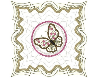 Machine Embroidery Design- Butterfly 09-Quilt Block-3 sizes included!
