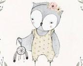 Dream Catcher Owl Print - 10X10