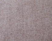 "Fat Eighth - Wool Fabric - Brown - Taupe - Herringbone Felted Wool Fabric- 100% Wool - 15-16"" x 12"""