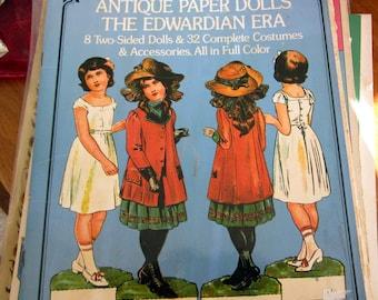 SALE Antique Paper Dolls of  The Edwardian Era. Epinal. Dover Pub. 1975