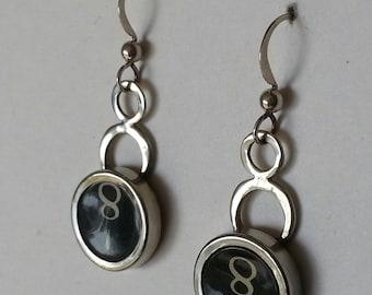 Typewriter Key Earrings in Sterling Silver