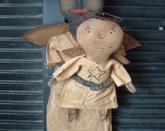 Sale   PriMitiVe Folky Angel Doll Instant Download-epattern
