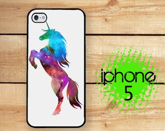 iPhone 5S SE Unicorn iPhone 5  iPhone 5S Unicorn Nebula 2 | Hard Case for iPhone 5 Plastic or Rubber Trim