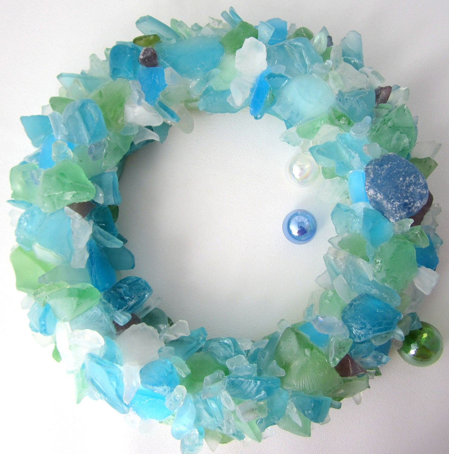Cute Diy Home Decor Ideas: Beach House Decor Sea Glass Wall Art Wreath Nautical Decor