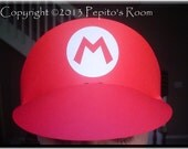 PH01 Super Mario Bros. Party Hat Template SVG / Printable PDF Outline