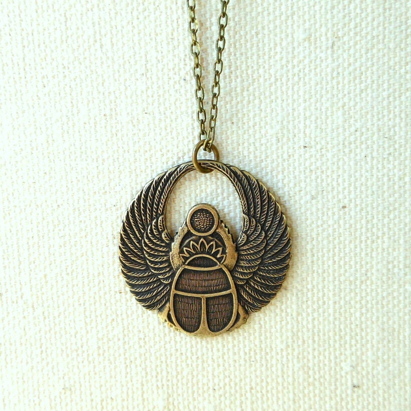 egyptian scarab necklace - photo #47