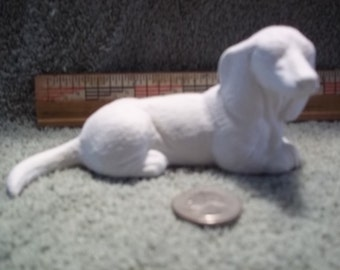 Dachshund  Dog  in Ceramic Bisque Ready to Be Painted Dachshunds